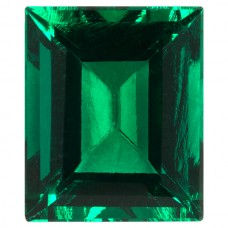 Cushion Simulated Emerald Ferrer