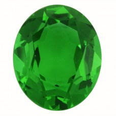 Oval Simulated Emerald Ferrer