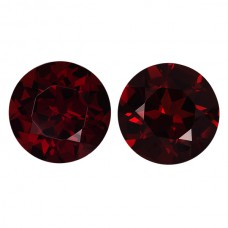 Round Genuine Garnet Single Stone(s)