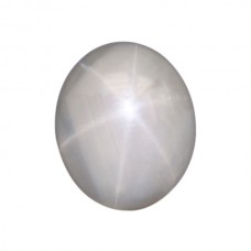 Oval Genuine Grey-Blue Star Sapphire Single Stone(s)