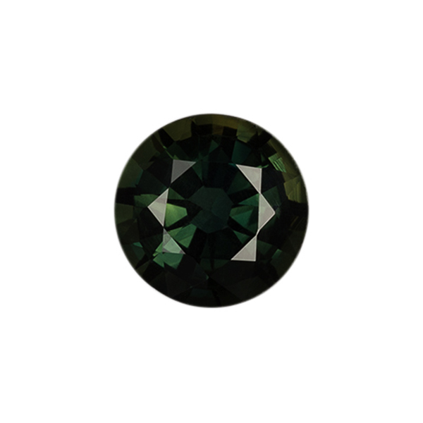 Round Genuine Green Sapphire Single Stone(s)