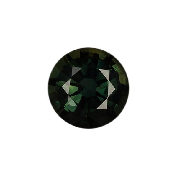 Round Genuine Green Sapphire Single Stone(s)
