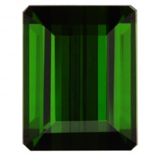 Octagon Genuine Green Tourmaline Single Stone(s)
