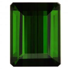 Octagon Genuine Green Tourmaline Single Stone(s)