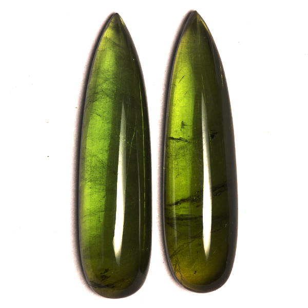Pear Genuine Green Tourmaline Single Stone(s)