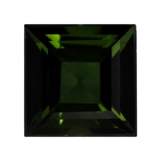 Square Genuine Green Tourmaline Single Stone(s)