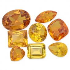 Gold Sapphire Synthetic Faceted