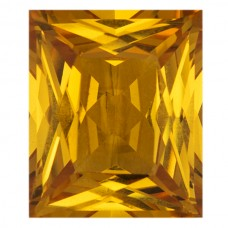Cushion Synthetic Gold Sapphire