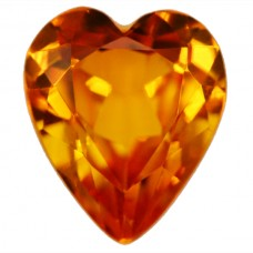 Heart Synthetic Gold Sapphire