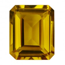Octagon Synthetic Gold Sapphire