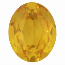 Oval Synthetic Gold Sapphire