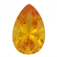 Pear Synthetic Gold Sapphire