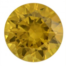 Round Synthetic Gold Sapphire