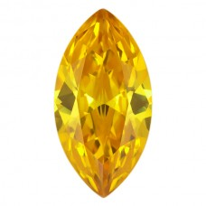Marquise Lab Created Golden Cubic Zirconia