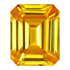 Octagon Lab Created Golden Cubic Zirconia
