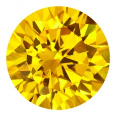 Round Lab Created Golden Cubic Zirconia