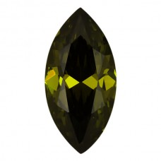 Marquise Lab Created Olive Cubic Zirconia