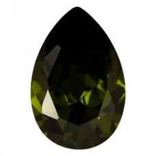 Pear Lab Created Olive Cubic Zirconia