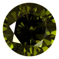 Round Lab Created Olive Cubic Zirconia