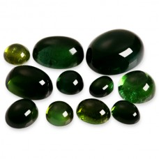 Green Tourmaline Genuine Cabochon