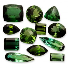 Green Tourmaline Genuine Faceted