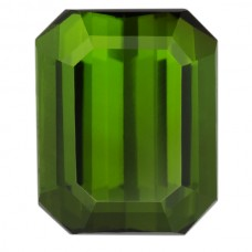 Octagon Genuine Green Tourmaline