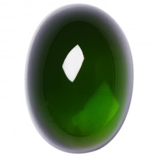 Oval Genuine Cabochon Green Tourmaline