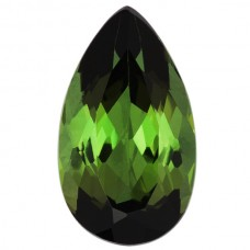 Pear Genuine Green Tourmaline