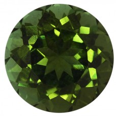 Round Genuine Green Tourmaline