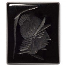 Cushion Genuine Black Onyx Intaglio