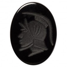 Oval Genuine Black Onyx Intaglio