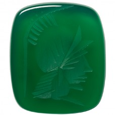 Antique Genuine Green Agate Intaglio