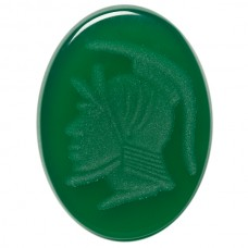 Oval Genuine Green Agate Intaglio