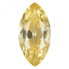 Marquise Lab Created Canary Cubic Zirconia