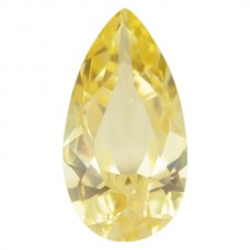 Pear Lab Created Canary Cubic Zirconia