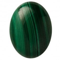 Oval Genuine Cabochon Malachite