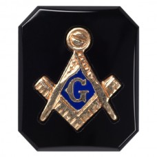 Octagon Masonic Inlay Black Onyx