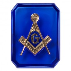 Octagon Masonic Inlay Syn Blue Spinel