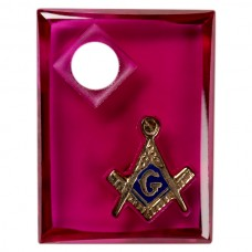 Cushion Dbl. Carve Masonic Inlay Syn Ruby