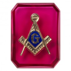 Octagon Masonic Inlay Syn Ruby