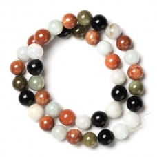 Genuine Multi-Color Jade Strand