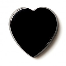 Heart Genuine Buff Top Black Onyx