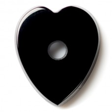 Heart Genuine Buff Top Drilled Black Onyx