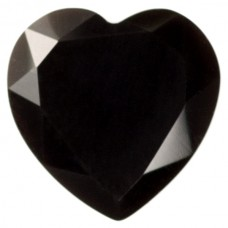 Heart Genuine Faceted Top Black Onyx