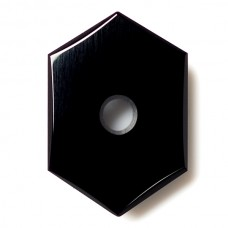 Hexagon Genuine Buff Top Drilled Black Onyx