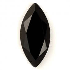 Marquise Genuine Faceted Top Black Onyx