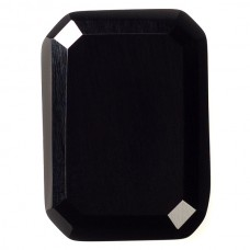 Octagon Genuine Faceted Top Black Onyx