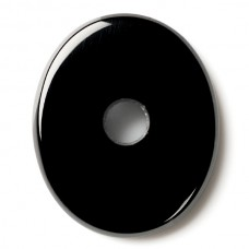 Oval Genuine Buff Top Misc Drilled Black Onyx