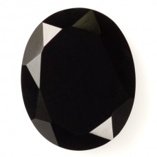 Oval Genuine Faceted Top Black Onyx