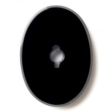Oval Genuine Buff Top Drilled Black Onyx